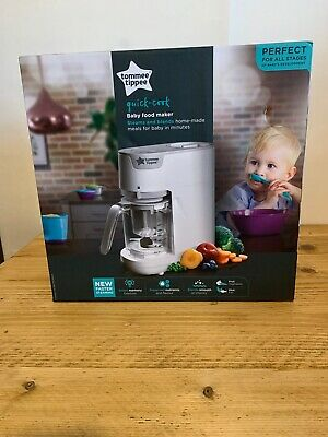 Tommee Tippee Quick Cook Baby Food Blender, White