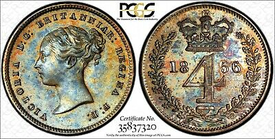 Great Britain Silver Victoria 1856 4 Pence Maundy PCGS PL64 PROOF LIKE KM# 732