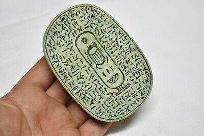 Rare ancient egyptian antique large stone scarab 1550-1069 bc