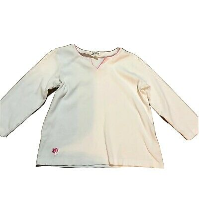 Lilly Pulitzer Long Sleeve Blouse Top Shirt Girl's Size 16 White EUC