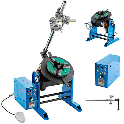 50KG Rotary Welding Positioner Turntable Timing w/ 200mm Chuck 80W Motor