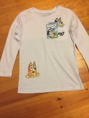 Bluey Kids Boys long sleeve tee t shirt top New with tags ABC Kids