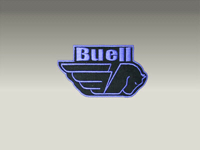3  Patch Toppe Buell Logo Ricamate Termo Adesive 7X6 Cm