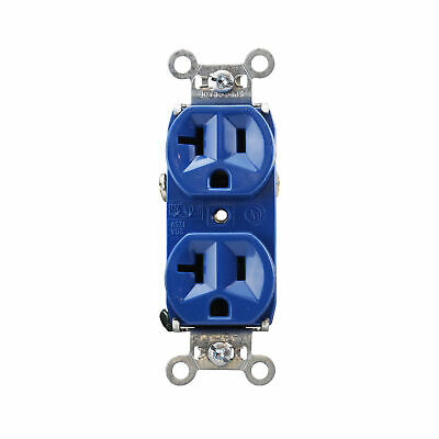Pass & Seymour 5362-Bl Duplex Receptacle, Industrial, 20A, 125V, Blue (10 Pack)