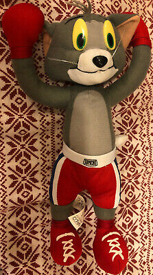 "Nanco Tom & Jerry  TOM Boxing Plush 14"" Cartoon Network Stuffed Animal Toys"