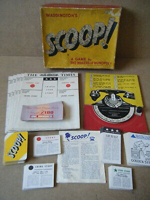 "Vintage ""SCOOP"" The Newspaper game. By Waddington's Games 1953. Complete."