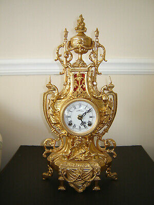 Original Antique Lancini Mantel Clock German Movement, Double bell.