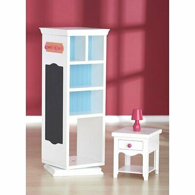 """* JOURNEY GIRLS STORAGE TOWER TABLE LAMP Suits 18"""" Doll American Girl OG - VGC"""