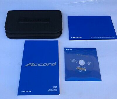 2017 Honda Accord Coupe owners manual with case OEM with disk
