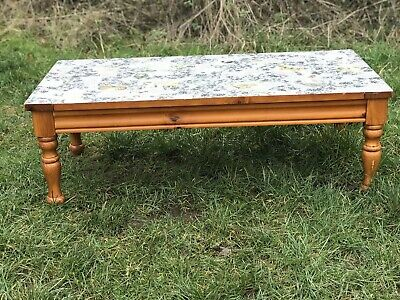 Solid Wood Pine Coffee Table Decoupage Top Upcycle Paint Shabby Chic