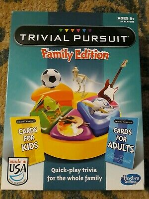 Hasbro Trivial Pursuit Family Edition Board Game. Very Good condition. Complete