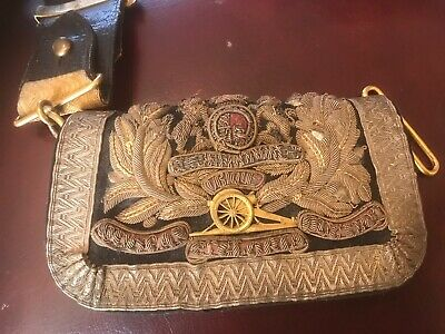 Victorian Royal Artillery,supurb Brocade Officers Dress Pouch And Belt