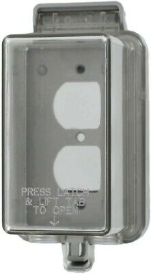 "Leviton 5976-CDL Clear Outdoor Weather Resistant ""While in Use"" Outlet Cover"