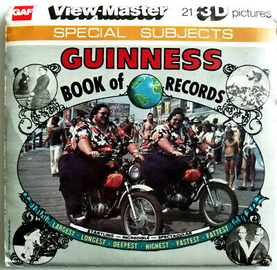 3x VIEW MASTER REEL ⭐ GUINNESS BOOK of RECORDS ⭐ + BOOKLET / SPECIAL SUBJECTS
