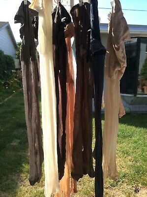 Vintage Mix Lot of 16 All Sheer Nylons 4 thigh high Stockings 12 Pantyhose