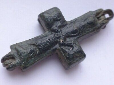 Medieval Byzantine Reliquary Cross 10th-13en century AD  11,79 g / 43-21 mm