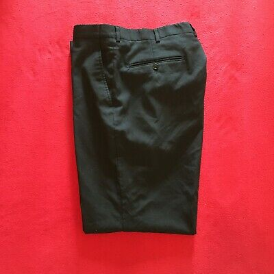 Stafford Men's 42x30 Black Classic Fit Executive Pants 100% Wool-Poly Lining