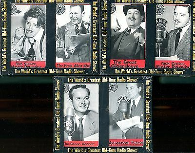 The World's Greatest Old-Time Radio Shows 5 - Classic Media - 2003 - 6 Cassettes