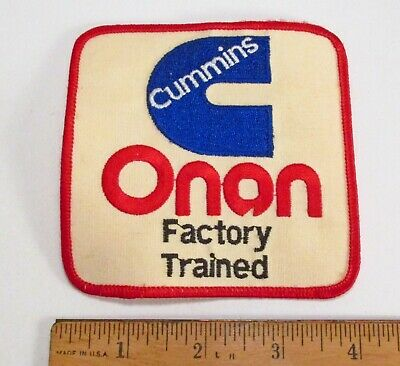 NOS Patch 3 x 2 INCHES Vintage ORIGINAL Hummin Cummins Embroidered