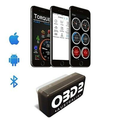 OBD-AUS OBD2 Bluetooth Scan Tool Android & iPhone Torque Code Reader