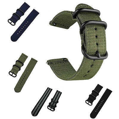 Woven Nylon Watch Band Wrist Strap Bracelet 18mm 20mm 22mm 24mm Quick Release
