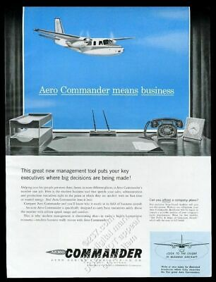 1958 Aero Commander business plane vintage print ad