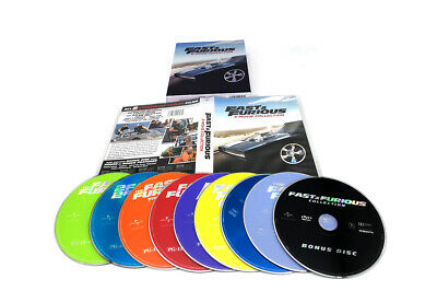 Fast and Furious: 1-8-Movie Collection (DVD, 2017, 9-Disc Box Set) Free shipping
