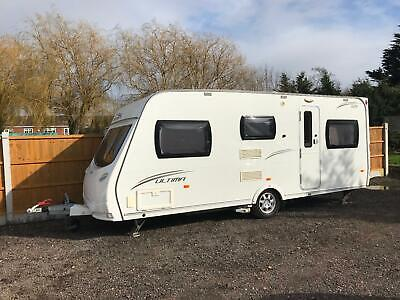 2010 Lunar 525 5 berth touring caravan with awning and motor movers