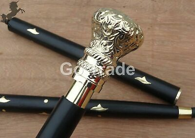 designer Brass Victorian vintage style walking stick Walkers Stick BEAUTIFUL GFT