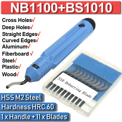 NB1100 Burr Handle HSS Steel With BS1010 10 pieces Blades Deburring Tool Set