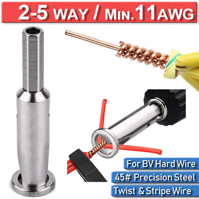 Quick Twist Wire Tool Stripper Cable Connector Electrical Power Drill UK