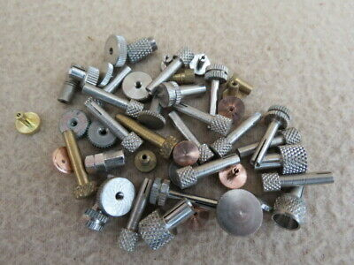 Collection Of Small Clock Hand Adjust Setting Knobs  (Lot 3)