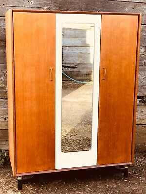 G plan E.Gomme Librenza Retro Vintage Teak Wardrobe With Mirror