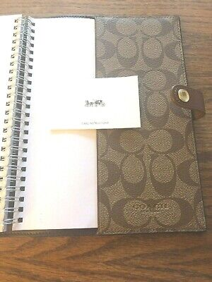 NEW WITH   JOURNAL     COACH     NOTE    BOOK  In Signature Canvas     NEW