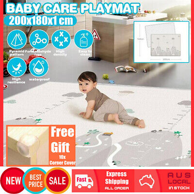 200x180cm Thick Crawling Play Mat Baby Game Rug Pat Children Carpet Floorcover