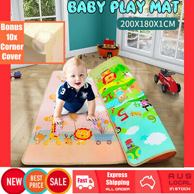 200x180cm Thick Crawling Play Mat Game Rug Children Baby Carpet Floorcover Safe