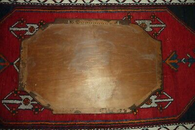 Antique Vintage LARGE Victorian Oak Wall Bevelled Mirror Jacobean Style