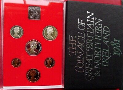 1981 Royal Mint 7 coin Proof set 50p 10p 5p 2p 1p 1/2p