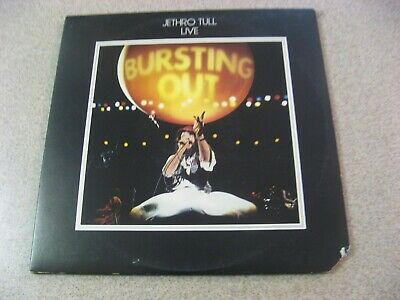Jethro Tull Bursting Out  Double Lp Live Ex+ Play Graded Chrysalis 1978 Ch2 1201