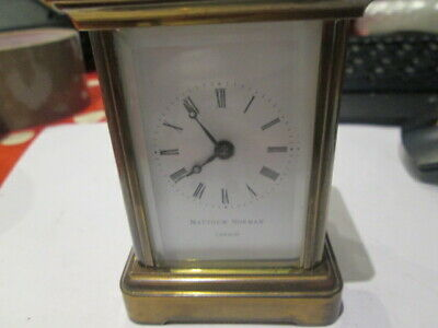 Matthew Norman Small 3 1/2 Inches Key Wind Carriage Clock