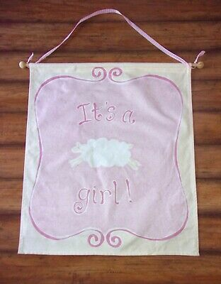 POTTERY BARN KIDS ~ Vintage 2004! IT'S A GIRL! ~ Birth ANNOUNCEMENT BANNER