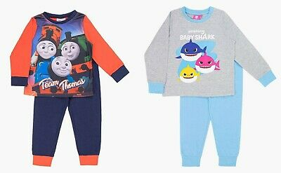 Girls Boys Kids Official Baby Shark / Thomas and Friends Pyjamas PJs 4-5 Yrs