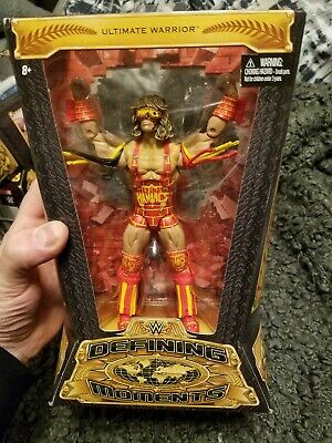 Defining Moments Ultimate Warrior - Ultimate Maniacs Wwe Mattel Figure - Mint