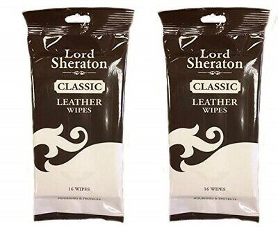 Pack of 6 Lord Sheraton Leather Wipes Pack 24