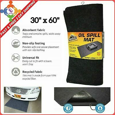 Premium Absorbent Mat Oil Pad Contains Liquids Protects Garage Floor Surface New