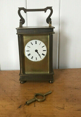 Antique Vintage Original Henley Carriage Clock Co Brass Carriage Clock With Key