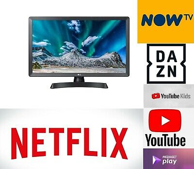 "Smart TV LG 28"" 28TL510S-PZ LED HD MONITOR DVB-T2 USB WIFI Netflix Dazn NowTV"
