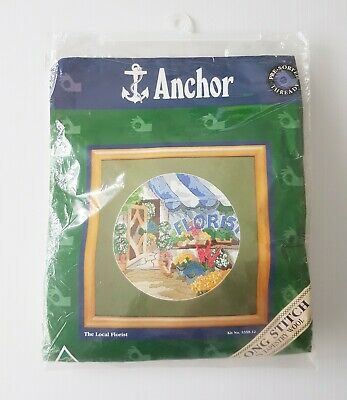 Anchor Long Stitch Tapestry Wool Kit - The Local Florist - Australian made