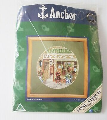 Anchor Long Stitch Tapestry Wool Kit - Antique Treasures - Australian made