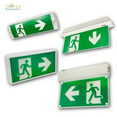 LED Emergency Exit Light Shield Escape Route